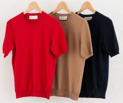 ラウンドプルオーバー・半袖 綿100% 女性Sサイズ〜男性LLサイズ